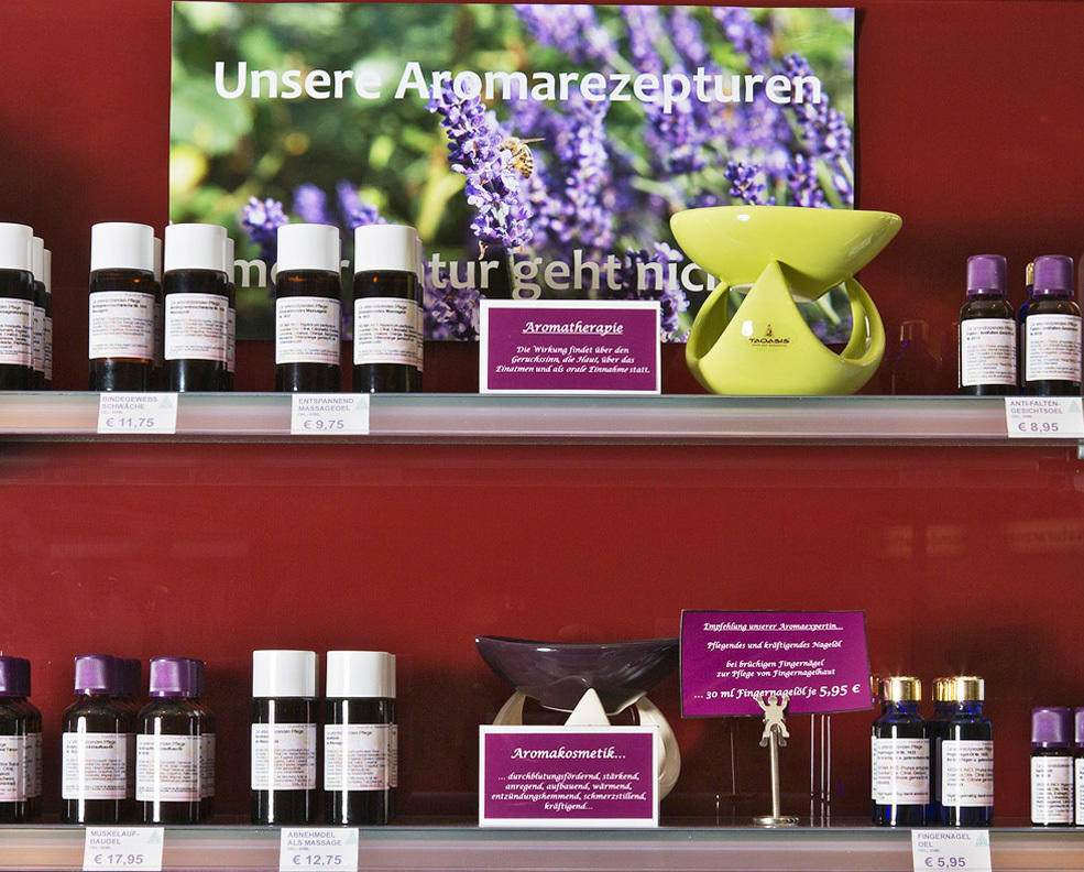 aroma therapie unser angebot drei linden apotheke. Black Bedroom Furniture Sets. Home Design Ideas